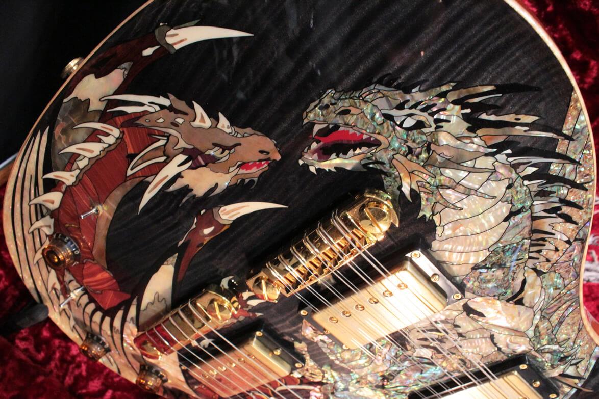 PRSダブルネック・ギターのボディ