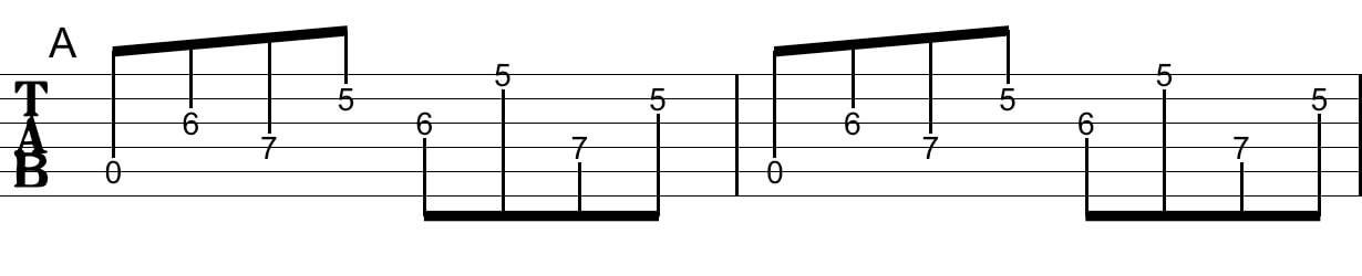 アルペジオの工夫:Tab譜2
