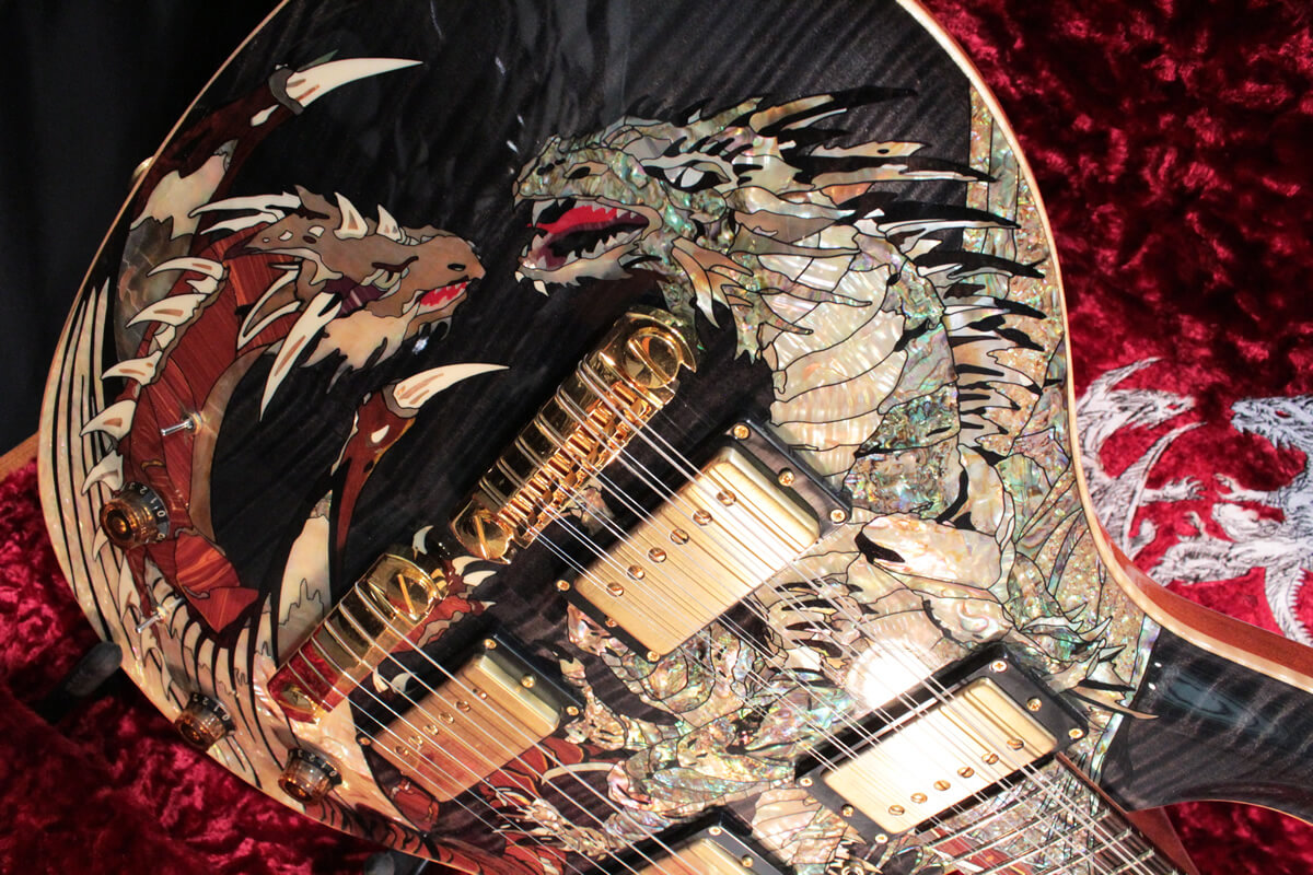 PRS Private Stock 30th Anniversary Dragon:ボディ