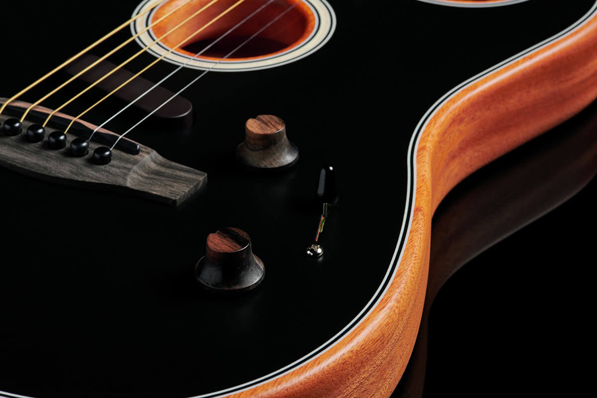 Acoustasonic Stratocaster:木製ハットノブ