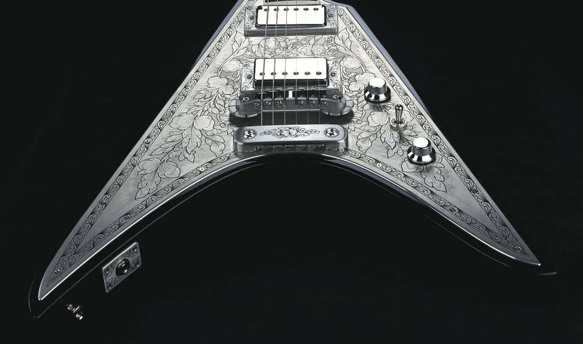 Vシェイプのギター