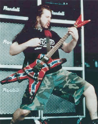 Dimebag Darrell Confederate Flag Dean Guitar