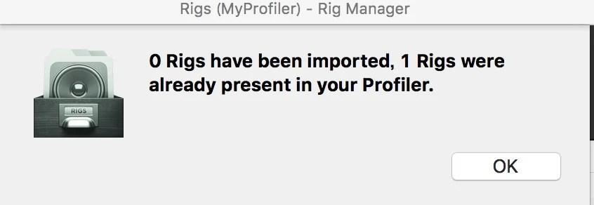 Rigs MyProfiler Rig Manager4