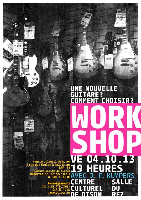 """Workshop """"nouvelle guitare"""""""