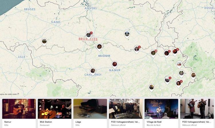 Carte de Belgique - concerts