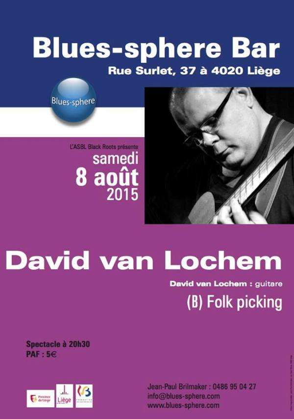 Le 08/08/2015 au Blues-sphere-bar David van Lochem en concert