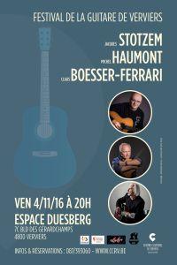 Festival de la guitare de Verviers : soirée acoustique