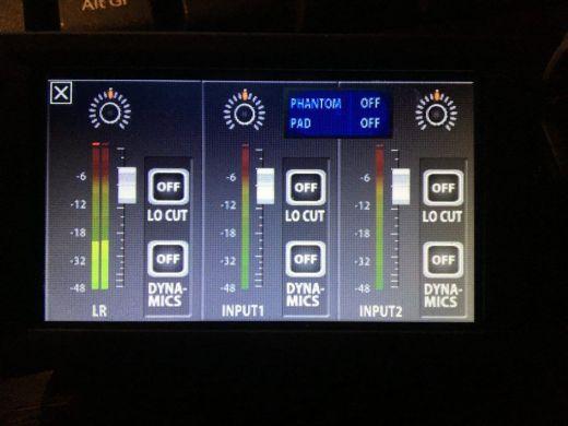 Zoom Q8 niveaux d'entreée