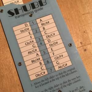 Shubb Transposing guide : transposer de D en A