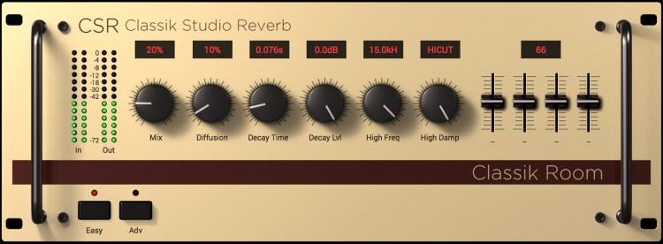 IK Multimedia T-Racks 5 - les modules de reverb