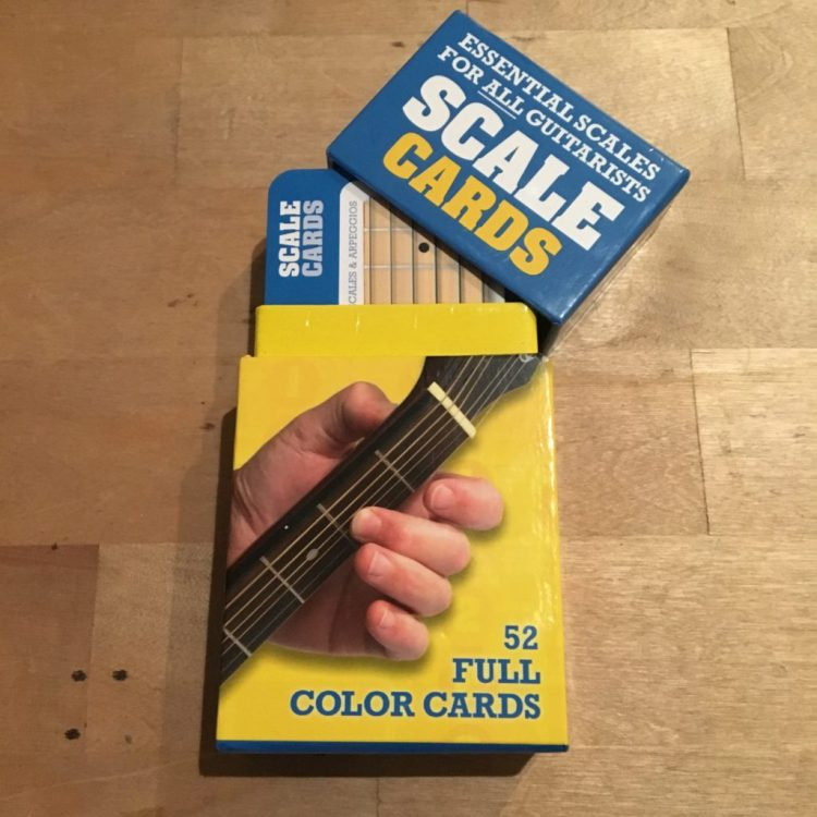 """SCALE CARDS """"Essential scales for all guitarists"""" - antisèche pour gammes"""