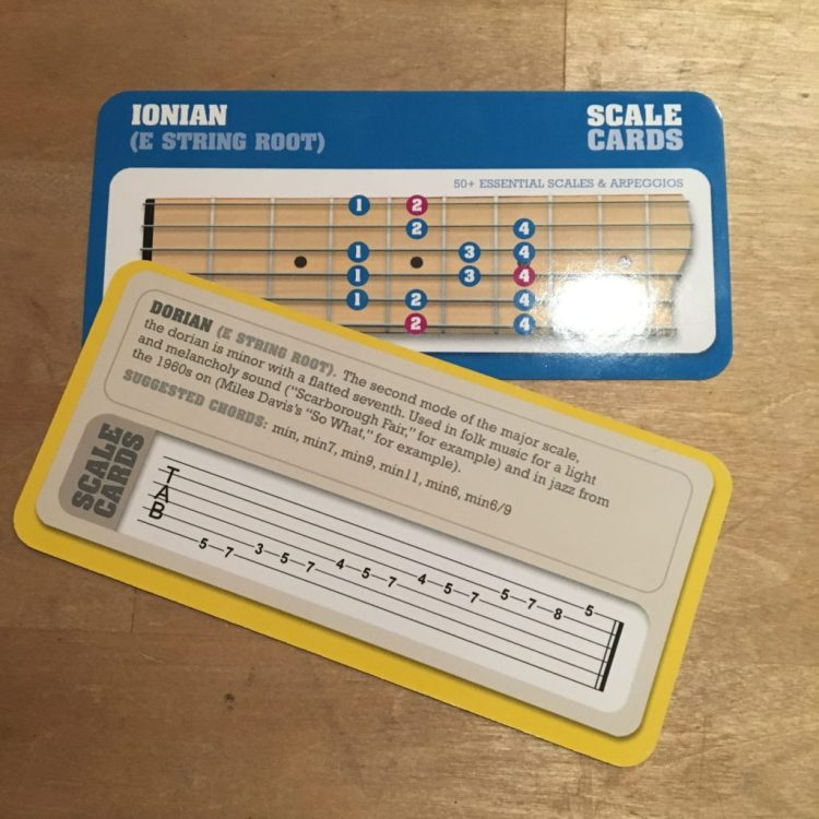 "SCALE CARDS ""Essential scales for all guitarists"""