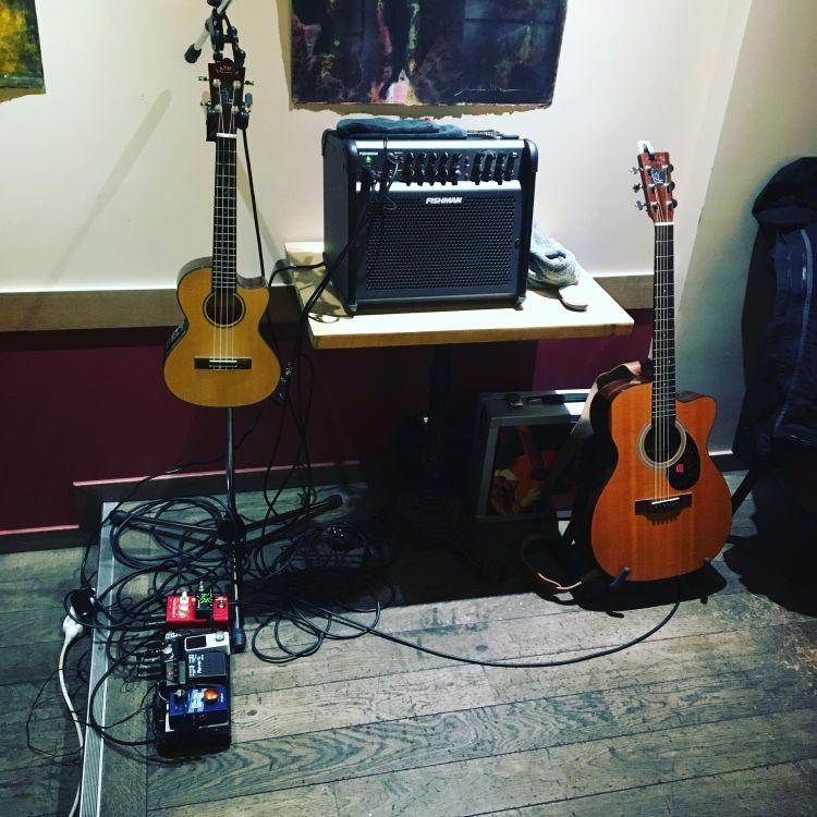 Contes & Guitare : fin du soundcheck