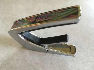 Capo 200 in Chrome with Black Ripple inlay