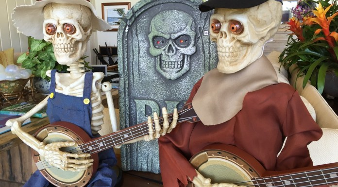 skeletons playing banjo