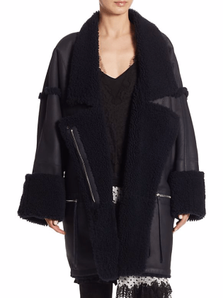 Zimmermann oversized leather jacket - saks 5th avenue