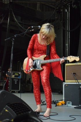Lindsey Troy of Deap Vally performing at Chastain Park ATL