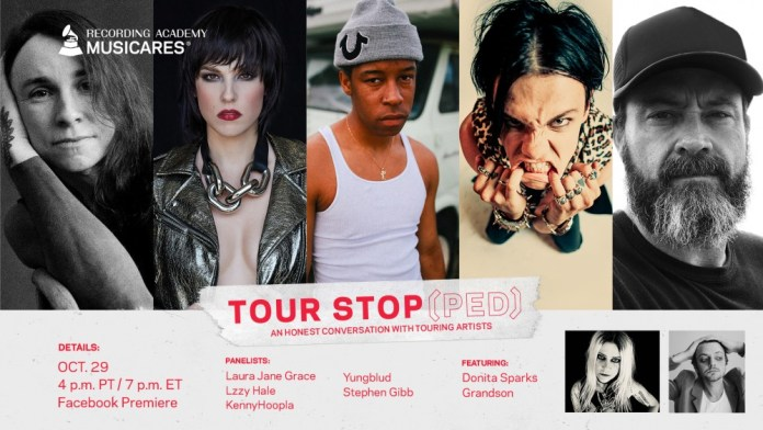flyer with photo of lzzy hale and other musicians