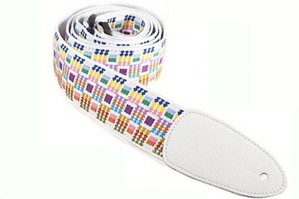 white guitar strap