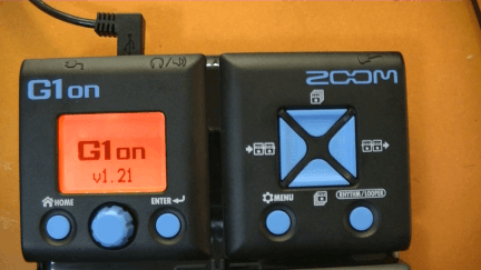 zoom g1on guitar effects pedal Firmware Update