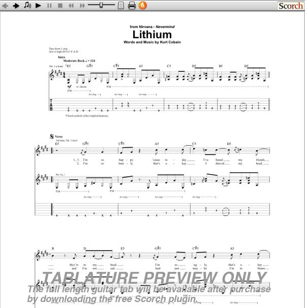 Contemporary Lithium Nirvana Chords Illustration - Beginner Guitar ...