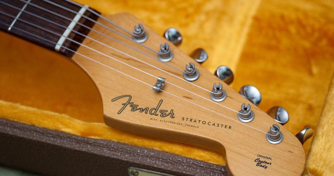 フェンダーのエレキギターのヘッド