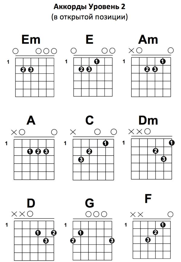Песни на гитаре 1 аккорд