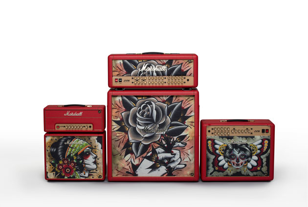 Marshall Custom Shop Tattoo Series рисунок Vicky Morgan