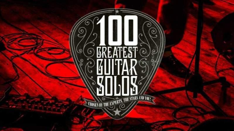 """Ilustração com o título """"100 Melhores Solos de Guitarra"""""""