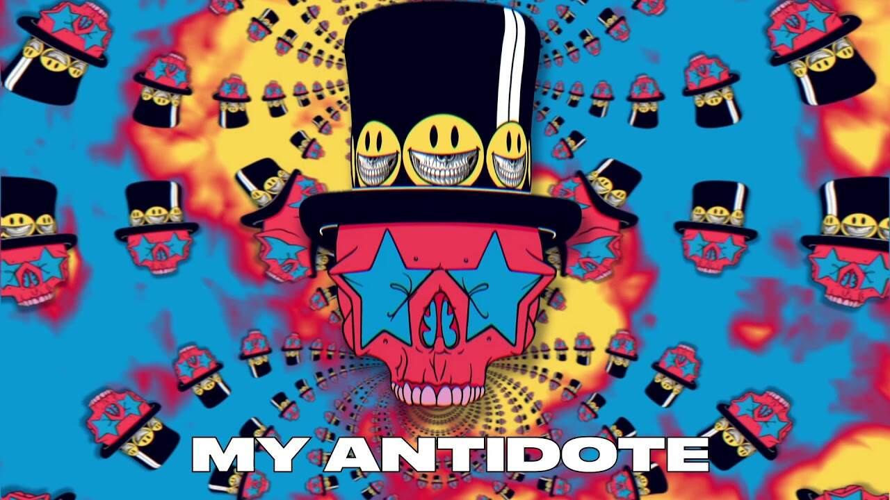 "Arte ilustrada do single ""My Antidote"" do Slash e Myles Kennedy and The Conspirators"