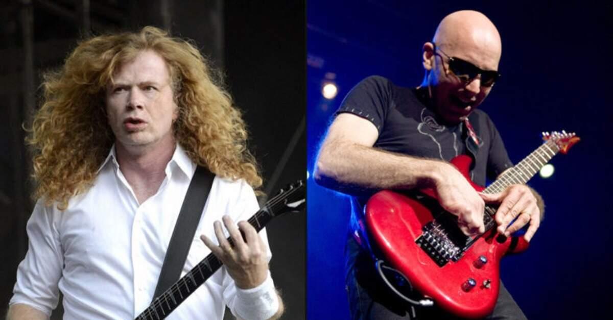 Dave Mustaine ao lado de Joe Satriani
