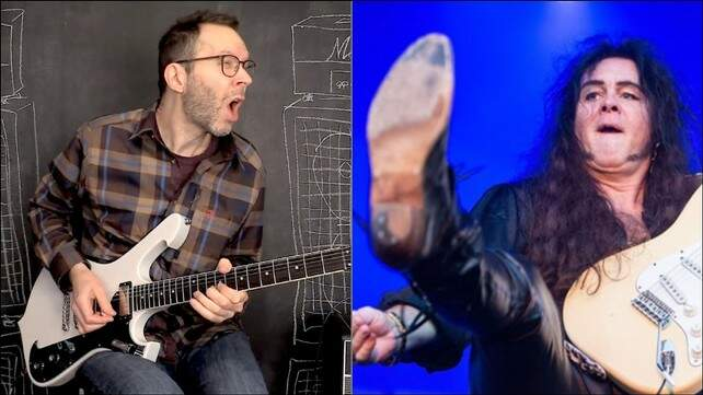 Paul Gilbert ao lado de Malmsteen
