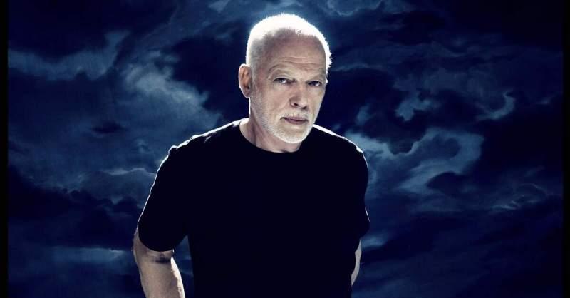 David Gilmour posando para foto