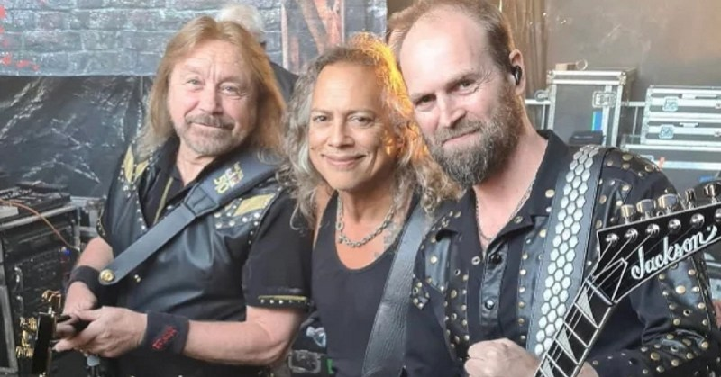 Kirk Hammett e Judas Priest