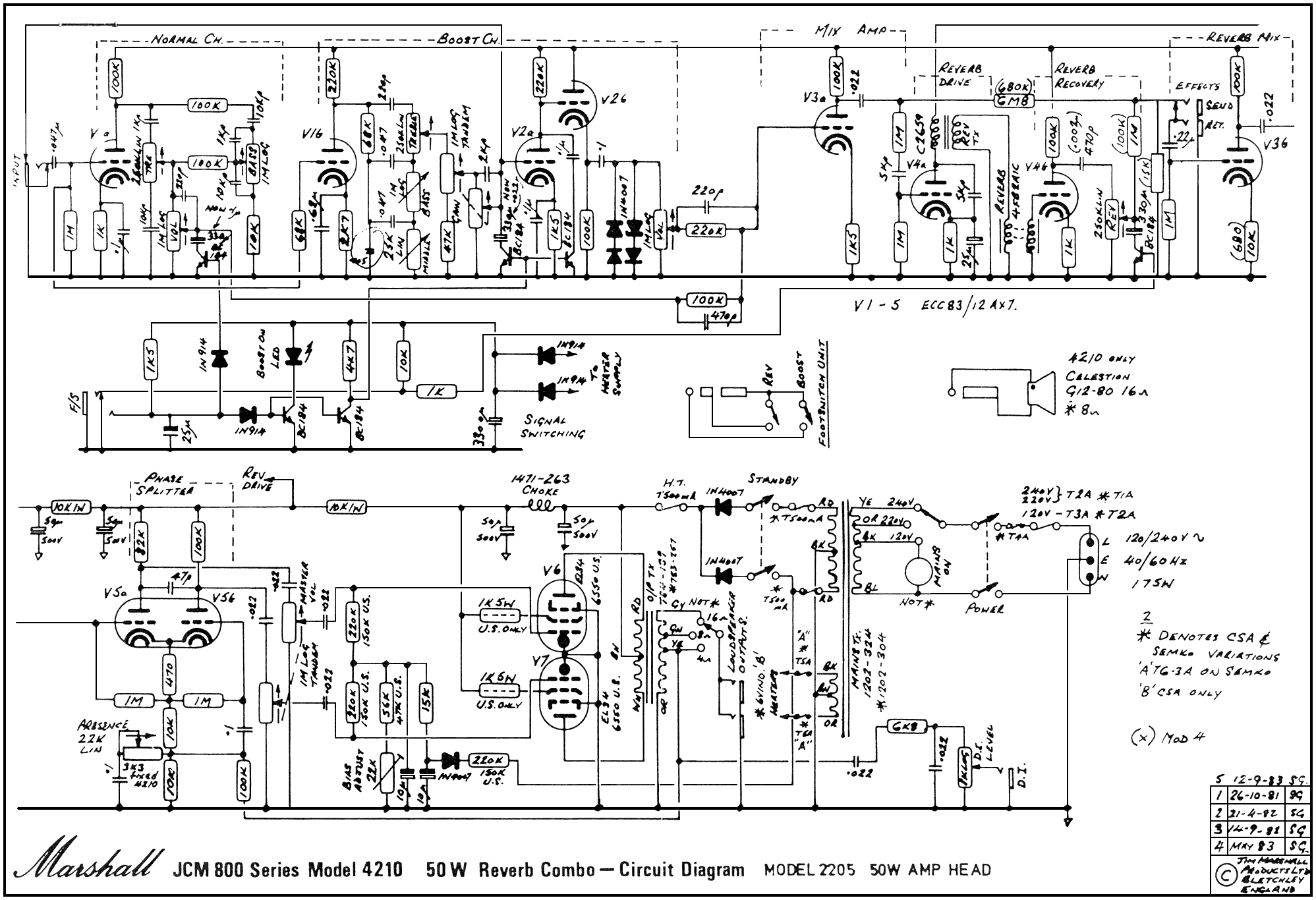 Guitar Amplifier Schematics