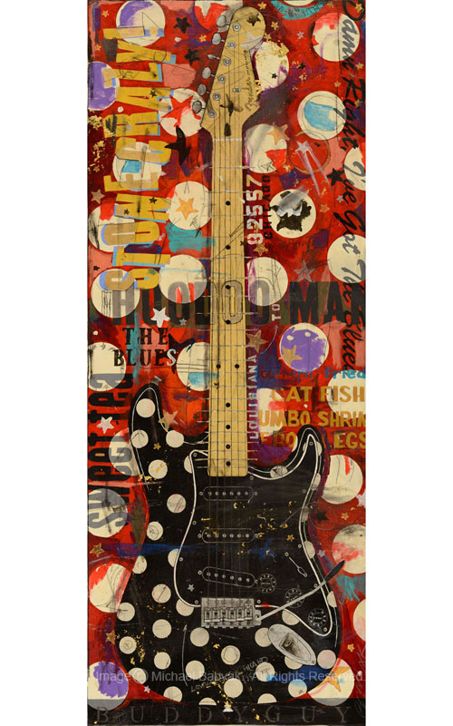 Buddy Guy Guitar Polka Dot Fender Stratocaster