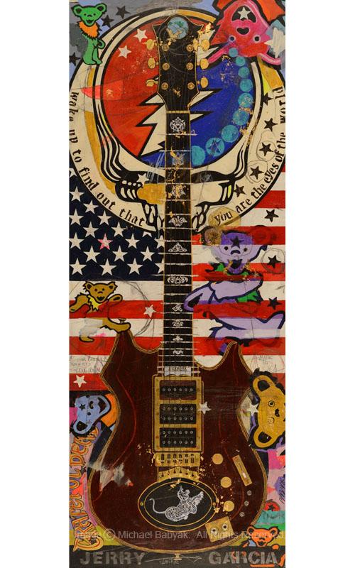 Jerry Garcia Custom Guitar Tiger