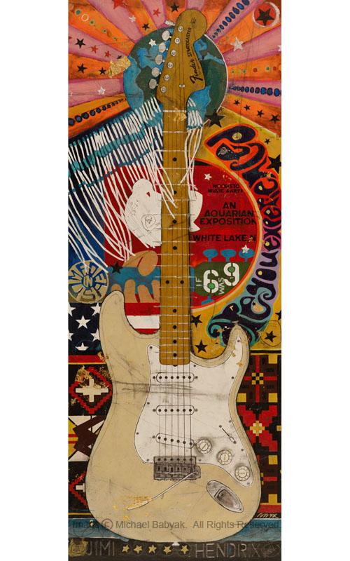 Jimi Hendrix Guitar Woodstock Stratocaster