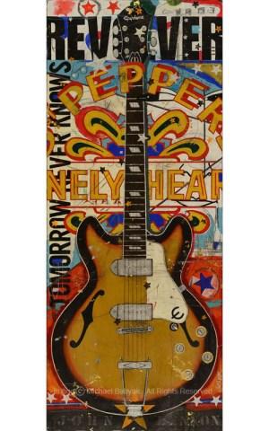 John Lennon Guitar Epiphone Casino Painting