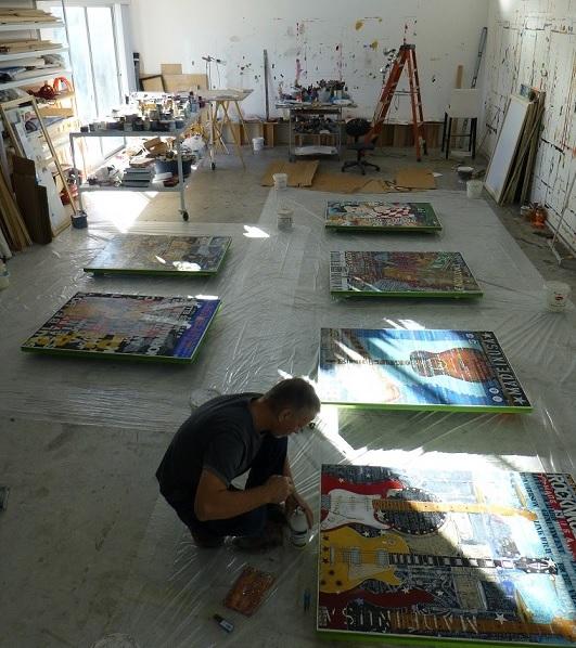 Preparing paintings for resin