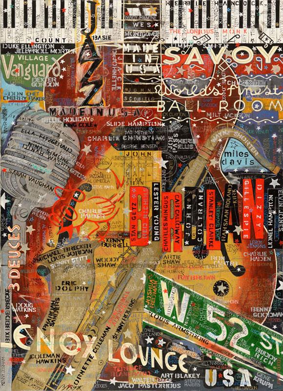 Jazz NYC USA Painting