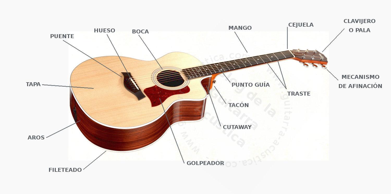 26d501537acb2 PARTES DE UNA GUITARRA (VOCABULARIO INTERACTIVO)