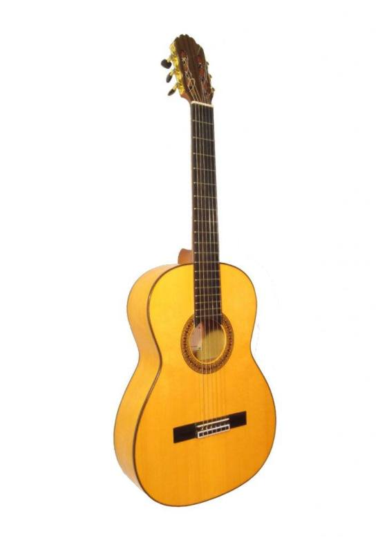 Guitarra flamenca blanca