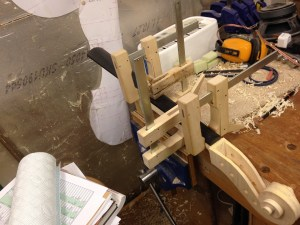 Gluing the fingerboard to the neck