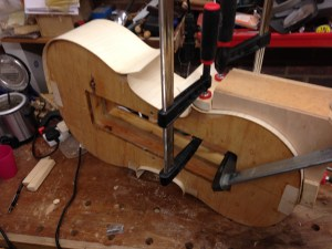 Gluing the ribs