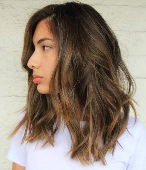 Прически на волосы средние черные – красивые женские ...