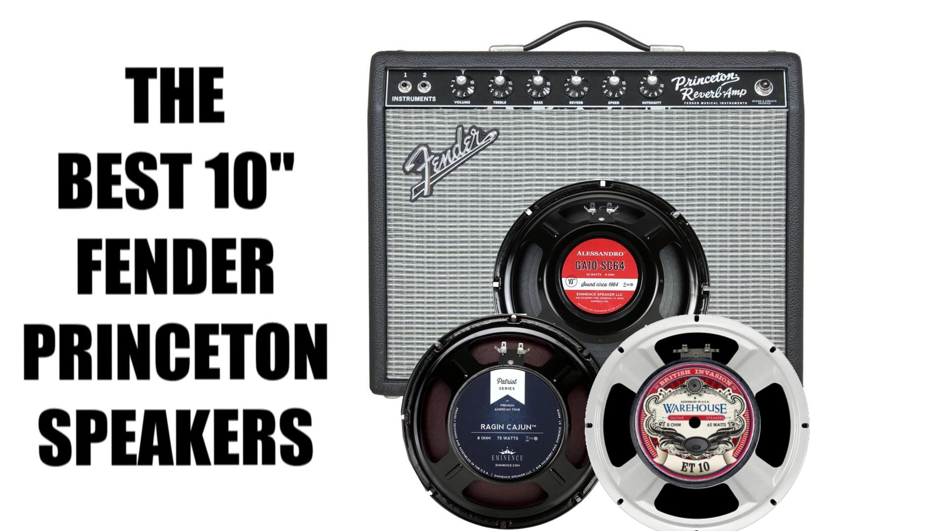 "The Best 10"" Fender Princeton Reverb Speakers"