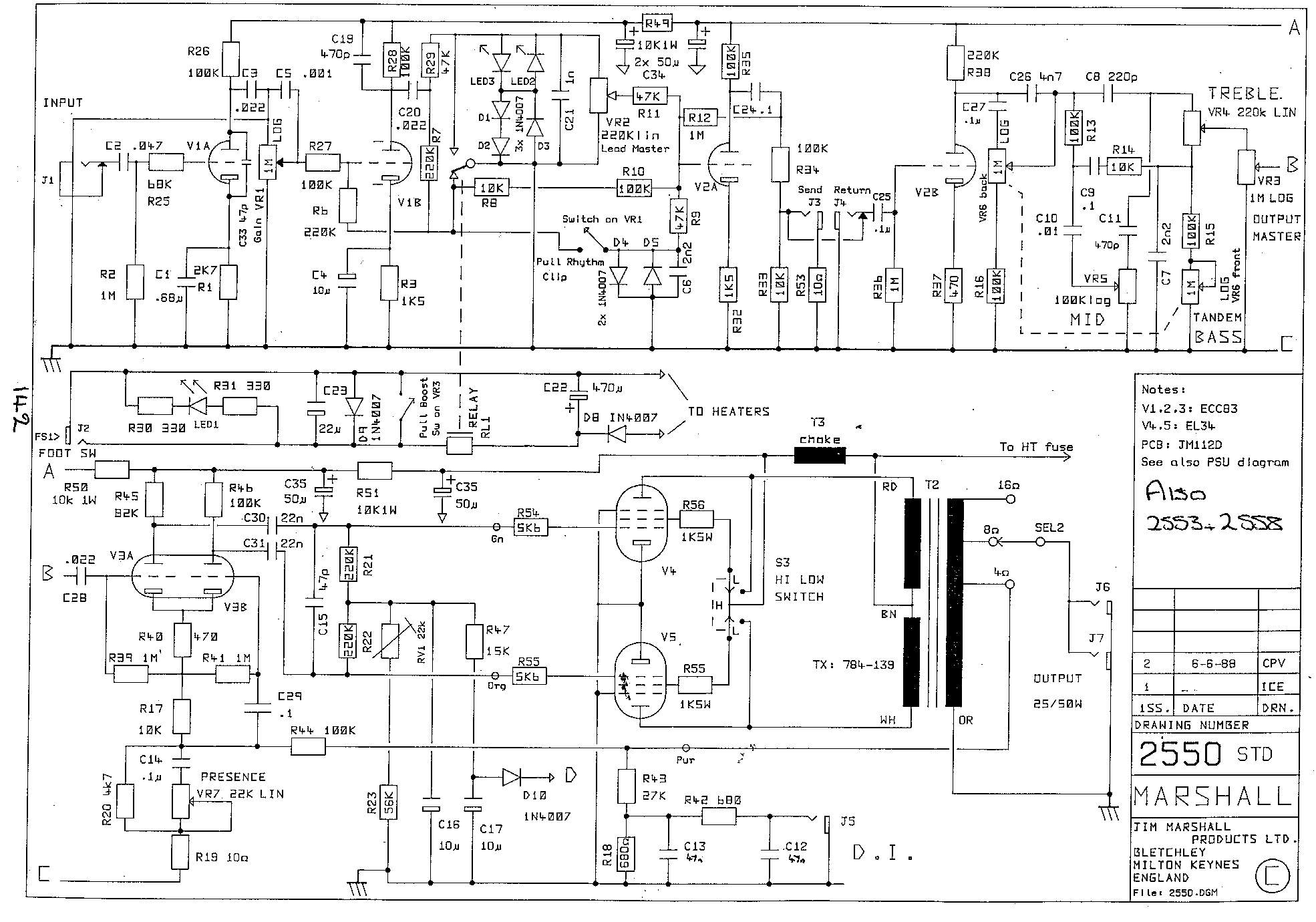 Marshall Jcm Dsl 50 Schematic Design Deliverables