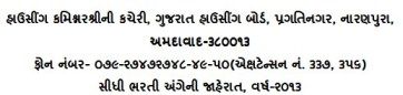 Gujarat Housing Board Recruitment 2013