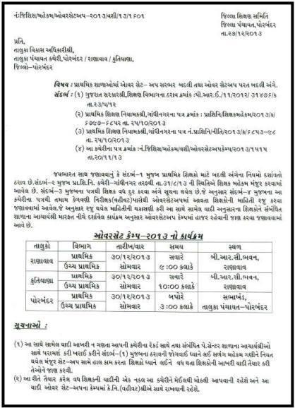 Primary Teacher Vadh Ghat Camp Details Porbandar District School